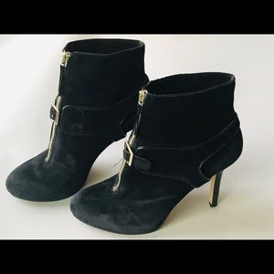 Nine West Black Suede  Ankle Booties